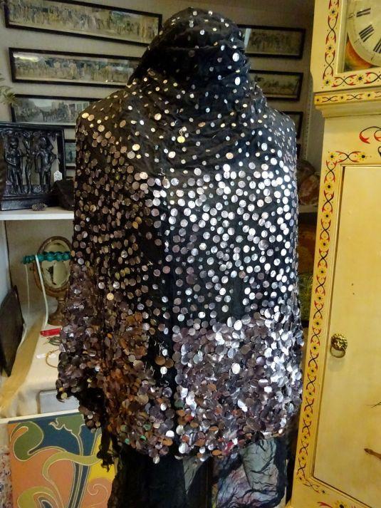 lentejuelas vestido estilo flapper con lentejuelas plateadas