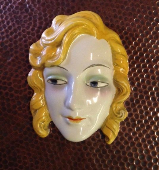 Rostro Art Decó de porcelana Goebel Germany 1930