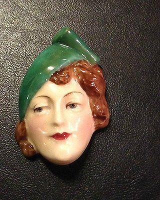 Rostro Art Decó de porcelana Royal Doulton Inglaterra 1920
