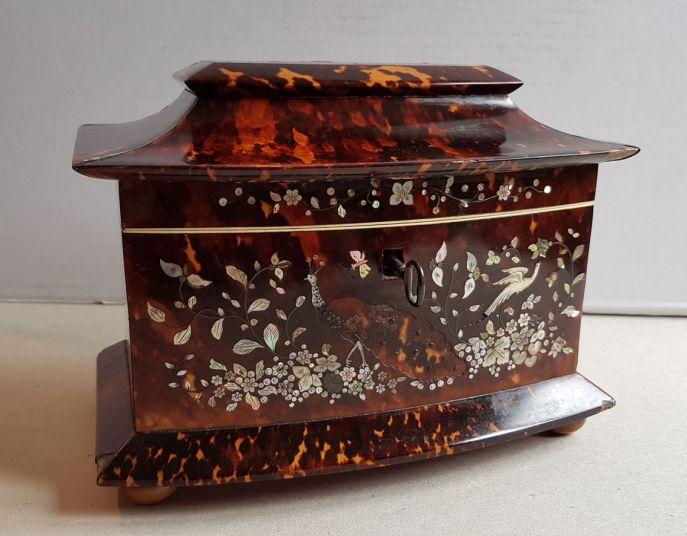 carey cofre de carey con incrustaciones de madre perla 1820