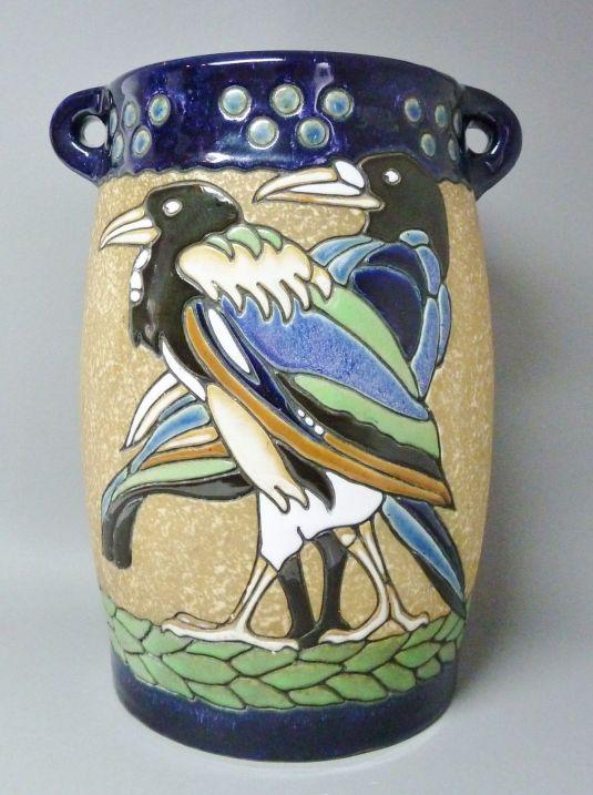 Jarrón ánfora Jugendstil en cerámica alemania 1900