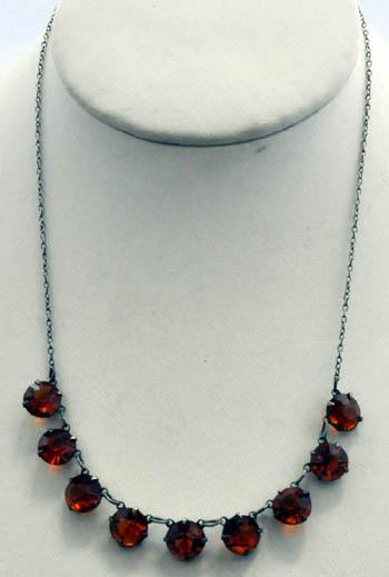301b501124e6 Art Deco Jazz collar de plata 925 y piedras topaz de la era Art Deco Jazz