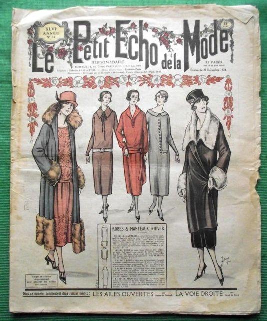 Art Deco Jazz Periódico de 1924 con la moda Art Deco Gatsby Jazz