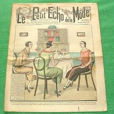 Art Deco Jazz revista francesa de 1925 que muestra disenos de la moda art deco jazz