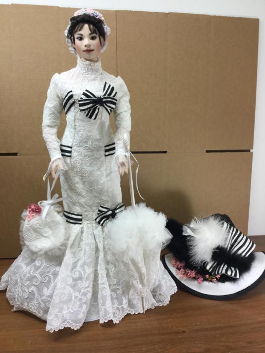 Audrey Hepburn 26 pulgadas muneca de porcelana de OOAK MARGIE HERRERA Audrey con el look de la película MY FAIR LADY