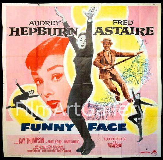 Audrey Hepburn poster original de 1957 del musical Funny Face que se vende por Ebay en 4500 dólares