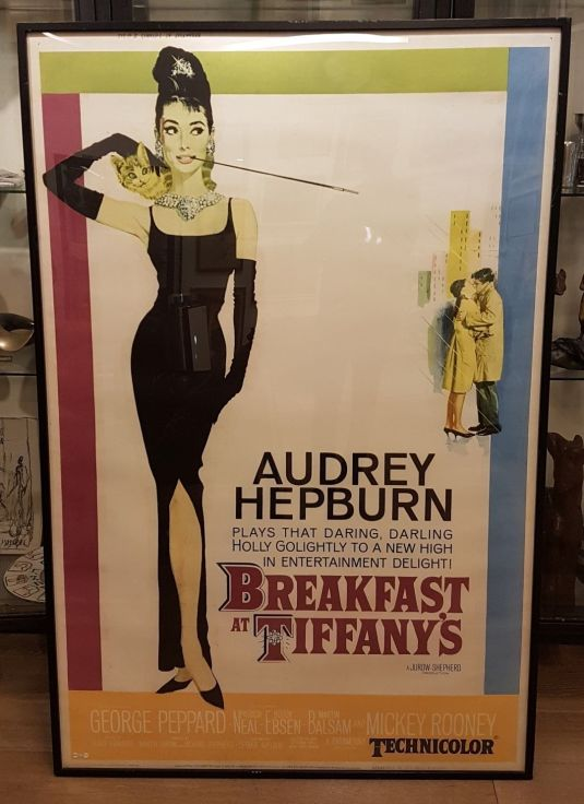Audrey Hepburn poster original de la película Breakfast at Tiffany's 1961