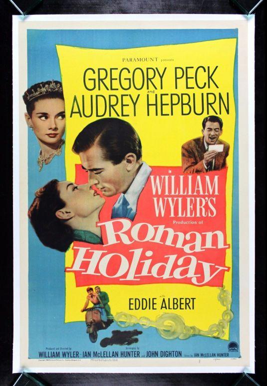 Audrey Hepburn poster original de la película ROMAN HOLIDAY de 1953