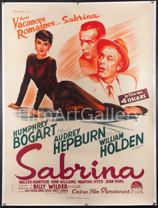 Audrey Hepburn poster original de la película Sabrina de 1954