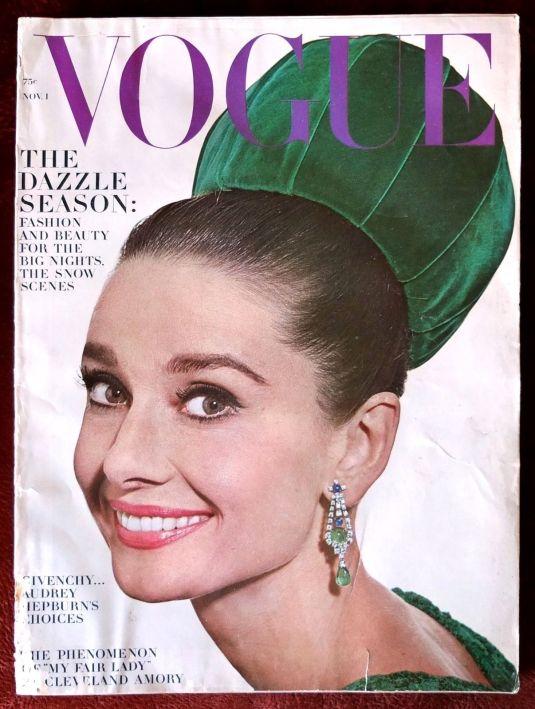 Audrey Hepburn revista Vogue, Noviembre 1964 foto por Irving Penn