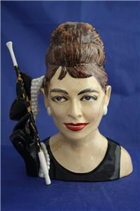 Audrey Hupburn jarra de cerámica, Inglaterra 1980