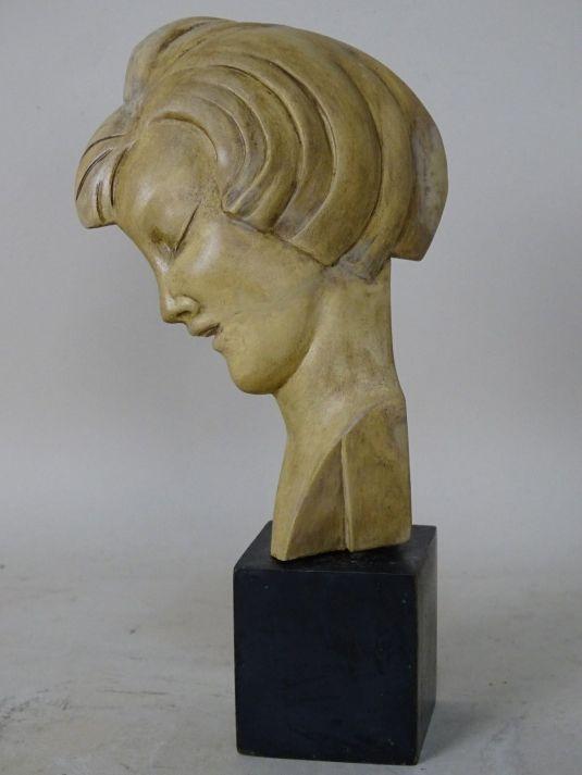Guido Cacciapuoti busto en terracota de 19 cm. de alto, 1930s