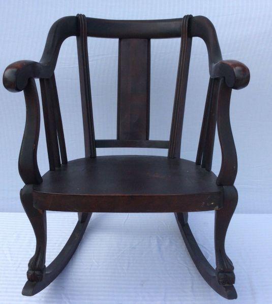 mecedora 1800 1899 USA madera ébano, fabricada por American Empire