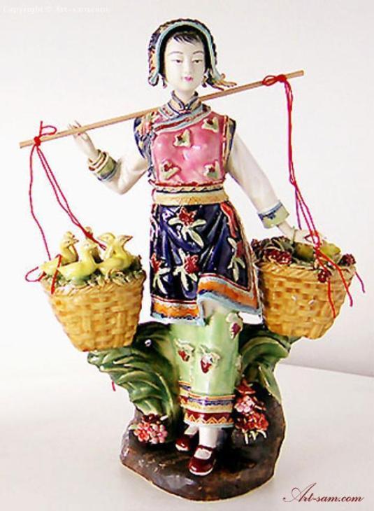 oficio campesina de porcelana china disenada por Lin Wei Dong