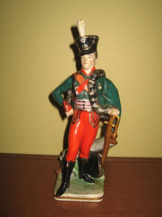oficio soldado francés de 1815 en porcelana Frankenthal Wessel , Alemania 1930