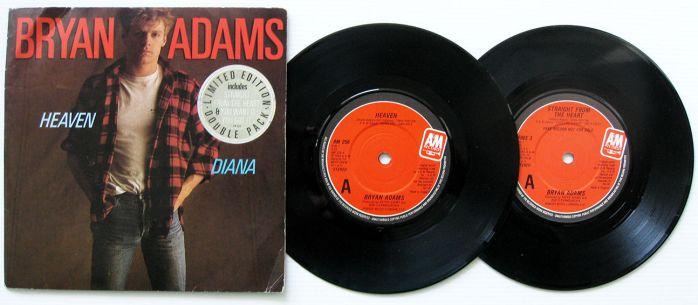Diana disco vinyl de 45 prm de Bryam Adams 1984