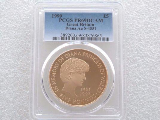 Diana moneda de 5 Libras de 1999