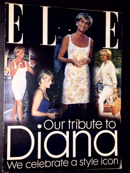 Diana portada de la revista Elle Our tribute to Diana 1997