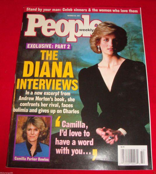 Diana portada de la revista People de octubre de 1997