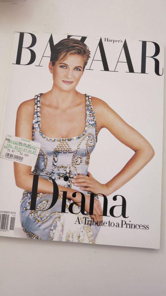 Diana portada de revista Bazaar Tributo a Diana de 1997